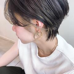 ショート 外国人風カラー ハイライト アンニュイほつれヘア ヘアスタイルや髪型の写真・画像