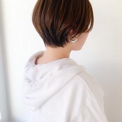 小顔ショート ショート ナチュラル コンパクトショート ヘアスタイルや髪型の写真・画像