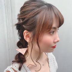 ヘアアレンジ かわいい フェミニン ロング ヘアスタイルや髪型の写真・画像