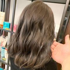 ラベンダーピンク ミルクティーベージュ ピンクベージュ ロング ヘアスタイルや髪型の写真・画像