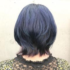ウルフカット レイヤーボブ ハイトーンカラー インナーカラー ヘアスタイルや髪型の写真・画像