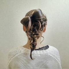 フェミニン りぼん 結婚式 まとめ髪 ヘアスタイルや髪型の写真・画像