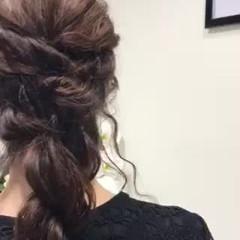 逆りんぱ 編みおろしヘア 結婚式ヘアアレンジ ヘアアレンジ ヘアスタイルや髪型の写真・画像