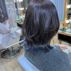 モード ミディアムレイヤー インナーカラー レイヤーボブ ヘアスタイルや髪型の写真・画像