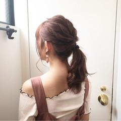 ピンクブラウン ベリーピンク ピンクベージュ ナチュラル ヘアスタイルや髪型の写真・画像