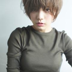 リラックス アッシュ 外国人風カラー ショート ヘアスタイルや髪型の写真・画像