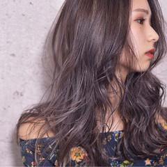 セミロング グラデーションカラー バレイヤージュ 外国人風 ヘアスタイルや髪型の写真・画像