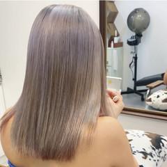 ストリート ハイトーンカラー ブリーチカラー ミディアム ヘアスタイルや髪型の写真・画像