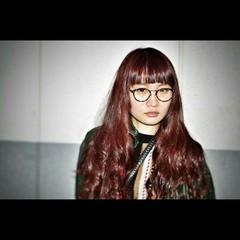 ロング ピンク ガーリー 暗髪 ヘアスタイルや髪型の写真・画像