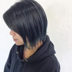 外ハネ ボブ グラデーションカラー ショート ヘアスタイルや髪型の写真・画像