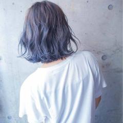 くせ毛風 ボブ グラデーションカラー 外国人風 ヘアスタイルや髪型の写真・画像