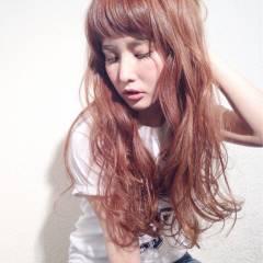 フェミニン ゆるふわ オン眉 外国人風 ヘアスタイルや髪型の写真・画像