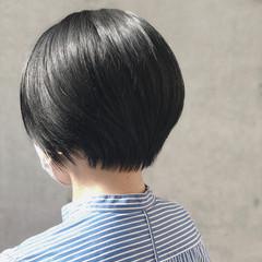 切りっぱなしボブ ウルフカット ショート エレガント ヘアスタイルや髪型の写真・画像