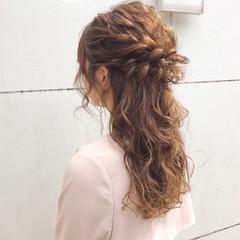 ロング デート ナチュラル ヘアアレンジ ヘアスタイルや髪型の写真・画像
