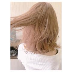 大人可愛い 大人かわいい フェミニン ミディアム ヘアスタイルや髪型の写真・画像