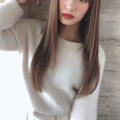 ヘアカラー 前髪 ハイライト ロング ヘアスタイルや髪型の写真・画像
