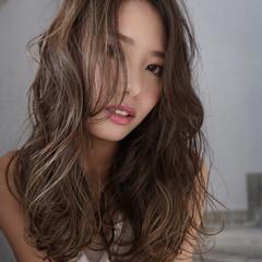 エレガント ハイライト 透明感 秋 ヘアスタイルや髪型の写真・画像