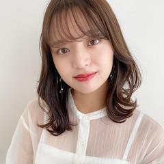 ナチュラル くびれボブ くびれカール 韓国風ヘアー ヘアスタイルや髪型の写真・画像