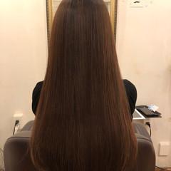 ストレート ナチュラル パーマ 縮毛矯正 ヘアスタイルや髪型の写真・画像