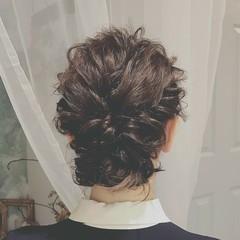 大人かわいい パーティ ミディアム フェミニン ヘアスタイルや髪型の写真・画像