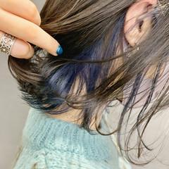 モード インナーカラー ブリーチ必須 派手髪 ヘアスタイルや髪型の写真・画像