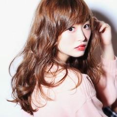 パーマ フェミニン ミディアム 大人かわいい ヘアスタイルや髪型の写真・画像