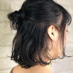 ヘアアレンジ ボブ ナチュラル グレージュ ヘアスタイルや髪型の写真・画像