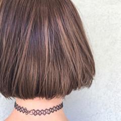 ハイライト ボブ モード 艶髪 ヘアスタイルや髪型の写真・画像