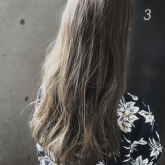 透明感 ガーリー ロング ハイライト ヘアスタイルや髪型の写真・画像