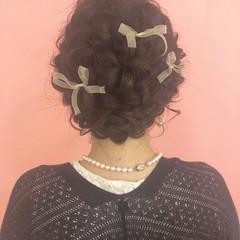 アッシュ ヘアアレンジ 外国人風カラー セミロング ヘアスタイルや髪型の写真・画像