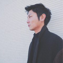 黒髪 ショート ボーイッシュ モテ髪 ヘアスタイルや髪型の写真・画像