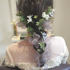 結婚式 花嫁 ロング ナチュラル ヘアスタイルや髪型の写真・画像