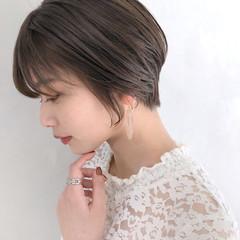 ショート ショートボブ ナチュラル ハンサムショート ヘアスタイルや髪型の写真・画像