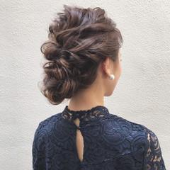 ロング フェミニン パーティ ブライダル ヘアスタイルや髪型の写真・画像