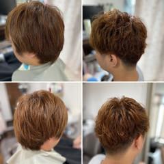 ストリート ベリーショート ショート メンズパーマ ヘアスタイルや髪型の写真・画像
