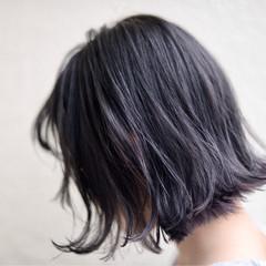 ハイライト インナーカラー 切りっぱなし ストリート ヘアスタイルや髪型の写真・画像