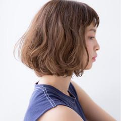 色気 ボブ パーマ ナチュラル ヘアスタイルや髪型の写真・画像