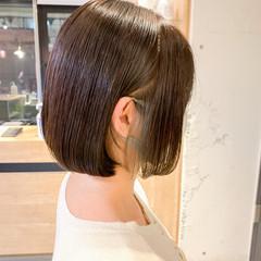 ボブ モテボブ ベージュ ナチュラル ヘアスタイルや髪型の写真・画像