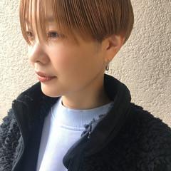 ブリーチオンカラー ショートボブ ハンサムショート ショート ヘアスタイルや髪型の写真・画像