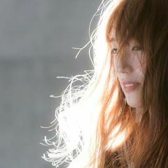 外国人風 フェミニン ナチュラル ロング ヘアスタイルや髪型の写真・画像