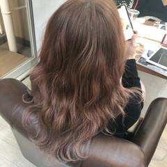 圧倒的透明感 フェミニン ブリーチなし 透明感カラー ヘアスタイルや髪型の写真・画像