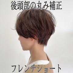 大人ショート ナチュラル ショートボブ ショート ヘアスタイルや髪型の写真・画像