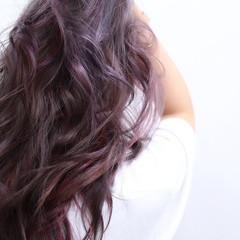 ラベンダーアッシュ 外国人風 セミロング ヘアスタイル ヘアスタイルや髪型の写真・画像