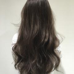 ブラウン 外国人風 暗髪 アッシュ ヘアスタイルや髪型の写真・画像