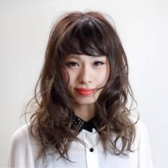 大人かわいい 愛され セミロング ガーリー ヘアスタイルや髪型の写真・画像