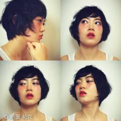 モード ショート ストリート セクシー ヘアスタイルや髪型の写真・画像