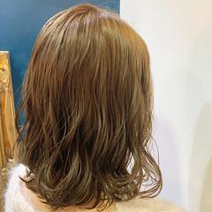 グレージュ ベージュ ナチュラル シアーベージュ ヘアスタイルや髪型の写真・画像