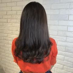 ロング オフィス グラデーションカラー 簡単ヘアアレンジ ヘアスタイルや髪型の写真・画像