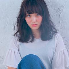 セミロング サロンモデル 大人かわいい かわいい ヘアスタイルや髪型の写真・画像
