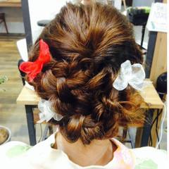 ヘアアレンジ ゆるふわ 前髪あり セミロング ヘアスタイルや髪型の写真・画像